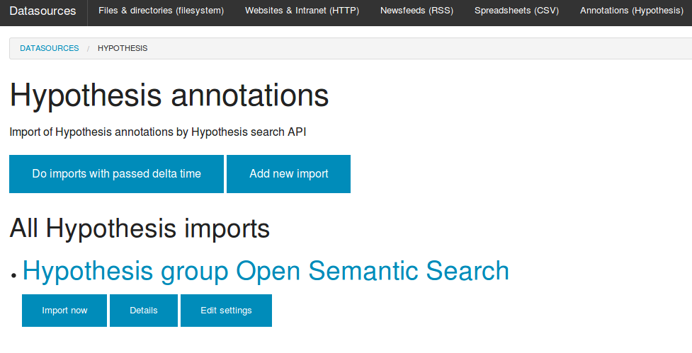 Import Hypothesis web annotations, tags & documents to Solr