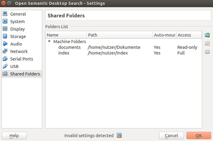 Open Semantic Search Appliance (search server VM)